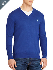 Polo Ralph Lauren® Cotton/Cashmere V-Neck Sweater