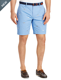 Polo Ralph Lauren® Embroidered Cotton Stretch Twill Shorts