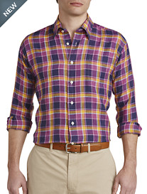 Robert Talbott® Plaid Linen Sport Shirt