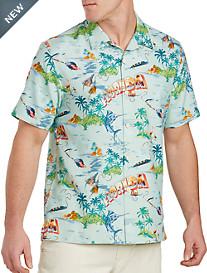 Tommy Bahama® Florida Seas Silk Camp Shirt
