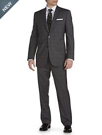 Jack Victor® Windowpane Wool Suit – Executive Cut