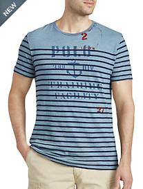Polo Ralph Lauren® Indigo-Dyed Graphic T-Shirt