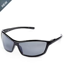 True Nation® Black Oversized Wrap Sunglasses