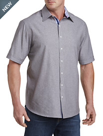 Twenty-Eight Degrees Chambray Dot-Print Sport Shirt