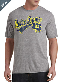 Retro Brand Notre Dame Heather Collegiate Team Tee