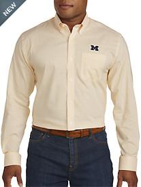 Cutter & Buck® University of Michigan Mini Check Sport Shirt