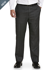 Michael Kors® Glen Plaid Flat-Front Suit Pants