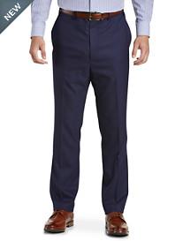 Tallia Orange Grid Flat-Front Suit Pants