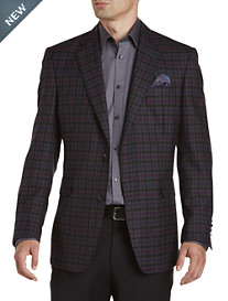 Tallia Orange Plaid Wool Sport Coat