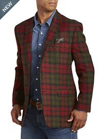 Ralph by Ralph Lauren Comfort Flex Plaid Wool Sport Coat