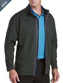 adidas® Golf Textured Fleece Full-Zip Jacket