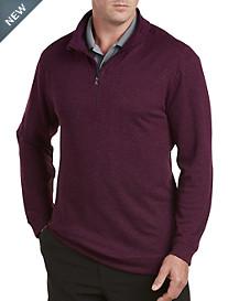 adidas® Golf Heather Quarter-Zip Pullover