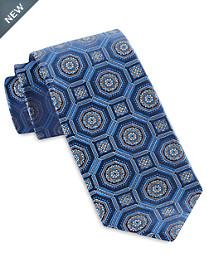 Robert Talbott Large Geo Medallion Silk Tie