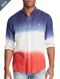 Polo Ralph Lauren® Dip-Dyed Linen Sport Shirt