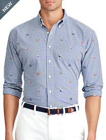 Polo Ralph Lauren® Nautical Embroidered Poplin Sport Shirt