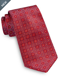 Brioni Medium Geo Medallion Silk Tie