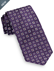 Brioni Medium Boxed Medallion Silk Tie
