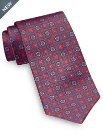 Brioni Large Repeating Medallion Silk Tie