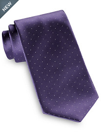 Brioni Satin Pin Dot Silk Tie