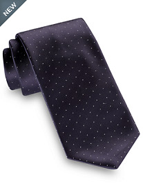 Brioni Satin Pin Dot Silk Tie