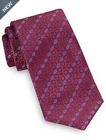 Brioni Digital Circle Neat Silk Tie
