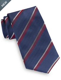 Brioni Herringbone Stripe Silk Tie