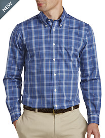 Brooks Brothers® Non-Iron Multi Plaid Pinpoint Sport Shirt