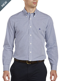 Brooks Brothers® Non-Iron Textured Mini Check Pinpoint Sport Shirt