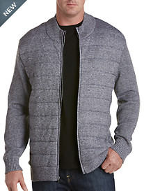 Twenty-Eight Degrees Full-Zip Knit Jacket with Quilted Front
