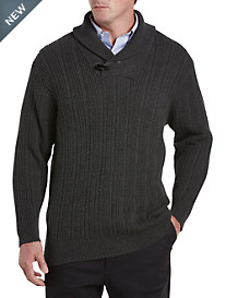 Rochester Shawl-Collar Cable Sweater