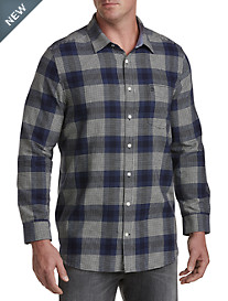 Original Penguin® Brushed Flannel Plaid Sport Shirt