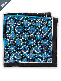 Rochester Plaid Medallion Silk Pocket Square