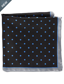 Rochester Medium Dot Silk Pocket Square