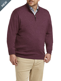 Rochester Quarter-Zip Cotton/Cashmere Sweater