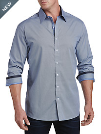 Twenty-Eight Degrees Circle & Diamond Print Sport Shirt