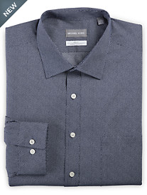 Michael Kors® Non-Iron Dot Print Stretch Dress Shirt