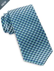 Rochester Gingham Plaid Silk Tie