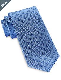 Rochester Small Diamond Medallion Silk Tie