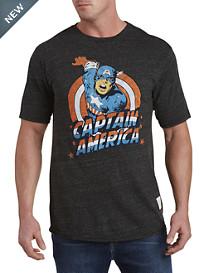 Retro Brand Captain America Graphic Tee