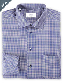 Eton® Mini Check Dress Shirt