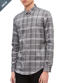 Calvin Klein® Sport Plaid Snap-Front Sport Shirt