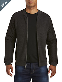 Calvin Klein Jeans® Full-Zip Sweater with Insulated Nylon Sleeves