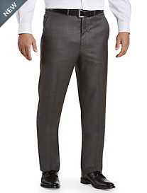 Ballin® Comfort-EZE Check Flat-Front Dress Pants