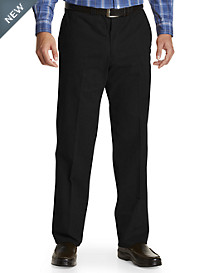 Bruno Saint Hilaire® Stretch Gabardine Flat-Front Pants
