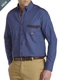 Paul & Shark® Corduroy-Trim Chambray Sport Shirt
