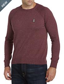 Psycho Bunny® Cotton/Cashmere Raglan Crewneck Sweater
