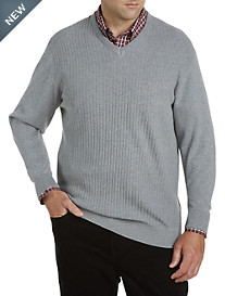 Cutter & Buck® Bryant Cotton V-Neck Sweater