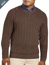 Cutter & Buck® Carlton Cable Crewneck Sweater