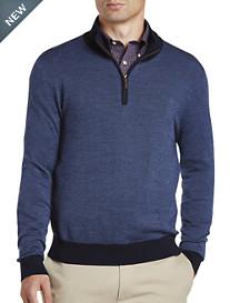 Brooks Brothers® Birdseye Wool Half-Zip Pullover