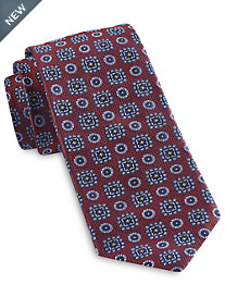 Robert Talbott Traditional Textured Medallion Silk Tie